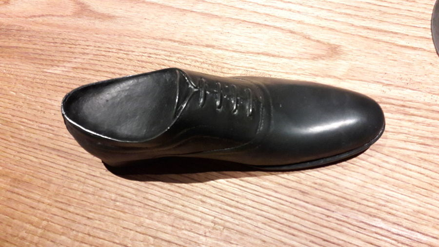 Pair Shoe Fashion No People Black Shoe Man Shoes Not Real Shoe On Table