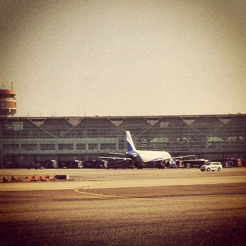 The Terminal at the Igi Airport at Delhi , this one just landed safe