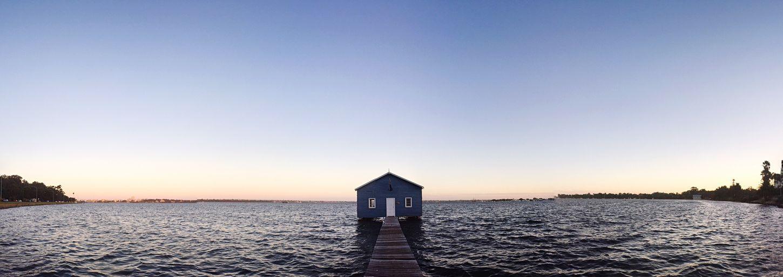Perth Blue Boat Shed Australia WA