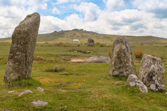 Dartmoor Pony between standing stones in Dartmoor Beauty In Nature Dartmoor National Park Dartmoor Pony EyEmNewHere Landscape No People Rock - Object Standing Stones Tor
