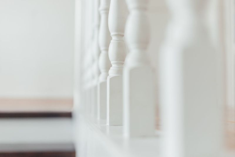 Close-up of white curtain at home