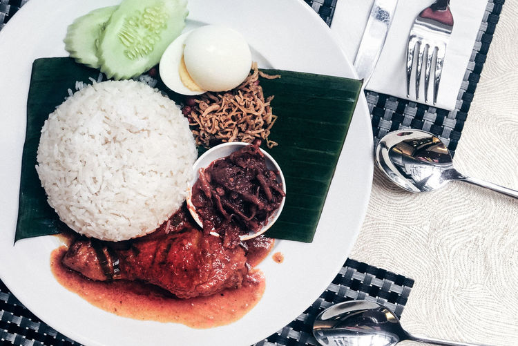 Asian Food Breakfast Close-up Dining Food Food And Drink Food And Drink High Angle View Nasi Lemak Ready-to-eat Serving Size ShareTheMeal Still Life Handmade For You Visual Feast Halal Food Hallal Food Malaysian Food Halal Meal Hot And Spicy