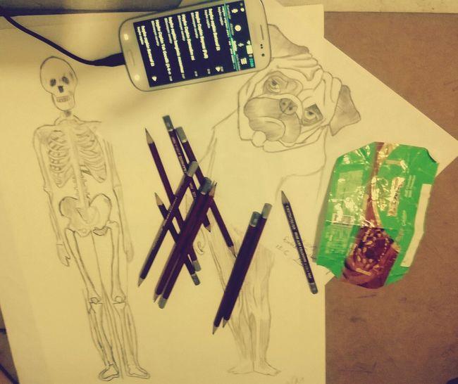 çikolatam, müziklerim ve cizimlerim olmasa cekilmez bu dunya. Drawing