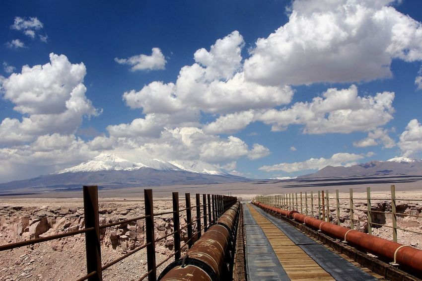 San Pedro De Atacama Cordillera De Los Andes Atacama Desert Atacama Chile Desert Nature Railing Cloud - Sky Sky Day Mountain Connection Outdoors Landscape No People Nature Mountain Range Scenics First Eyeem Photo