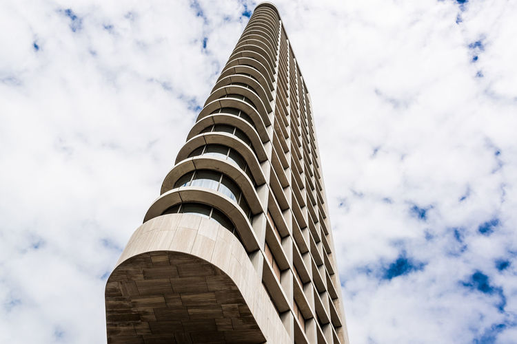 Eindhoven, Netherlands - May 24, 2015: Day view of The Vesteda tower. Located in Eindhoven and was finished in 2006, it is the fourth highest building in Eindhoven Vesteda Tower City Eindhoven Eindhoven Netherlands Modern Modern Architecture Netherlands Architecture Building Exterior Built Structure Contemporary Architecture Day Europe Highrise Highrise Architecture Highrise Building Holland No People North Brabant Outdoors Sky Skyscraper Tower Urban Western Europe