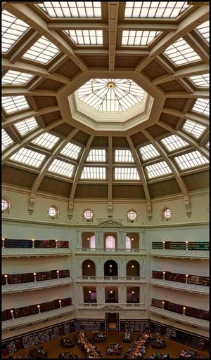 City library Architecture Built Structure Indoors  Ceiling No People Building Window