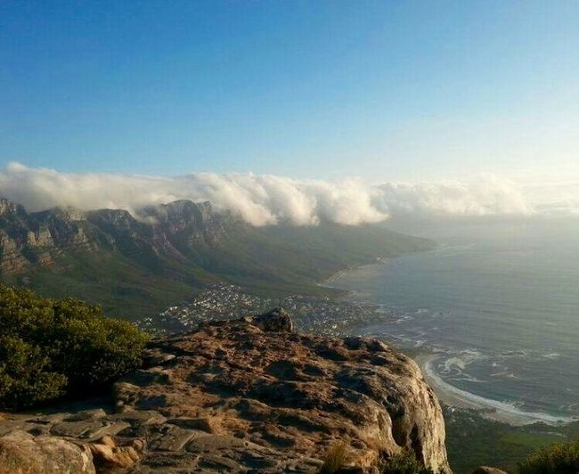 Capetown South Africa Mountains Ocean OceanCity Clouds Blue Sky Traveller Travel Photography Summer Africa