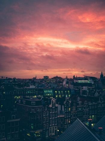 The Week on EyeEm Amsterdam Sunset Architecture Building Exterior Sky Built Structure Cityscape Cloud - Sky High Angle View No People City Colour Your Horizn