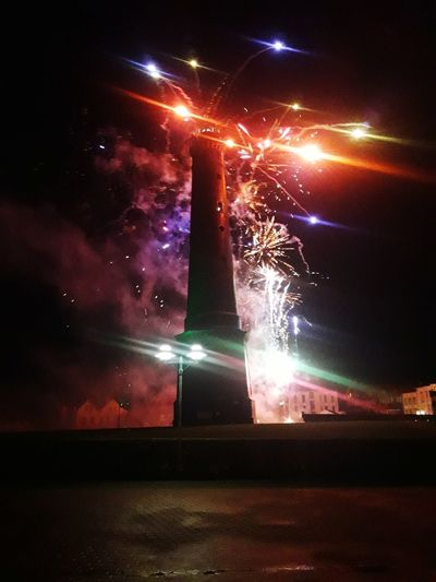 Borkum neuer Leuchtturm, Silvester 2017/18 Silvesterabend Silvester17/18 Borkummeineperle Borkum, Germany Night Outdoors No People Sky