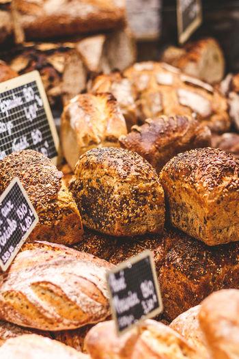 Fresh breads for sale in market
