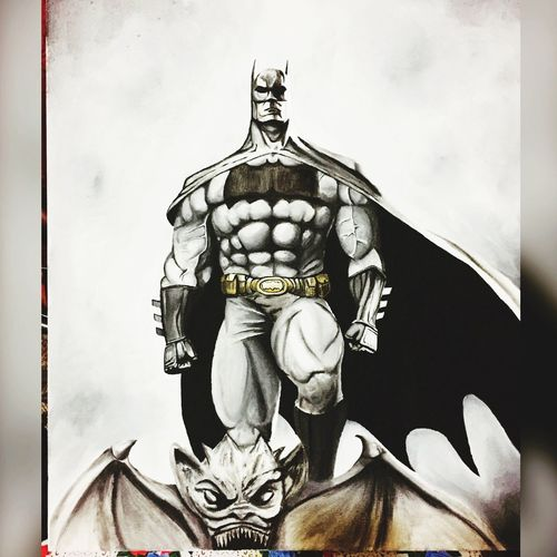 Batman ❤ Oil Painting Darkness And Light Heroes Darknight