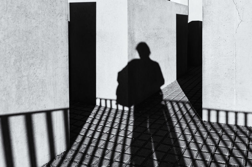 Berlin, Germany, October 08, 2018: Shadow of Photographer (Selfie) at Holocaust Memorial Berlin Black And White Image Germany 🇩🇪 Deutschland Architectural Column Architecture Building Exterior Built Structure Concrete Block Concrete Floor Day Focus On Shadow Footpath History Holocaust Memorial Lifestyles Men One Person Outdoors Real People Rear View Selfie Shadow Standing Sunlight Wall - Building Feature