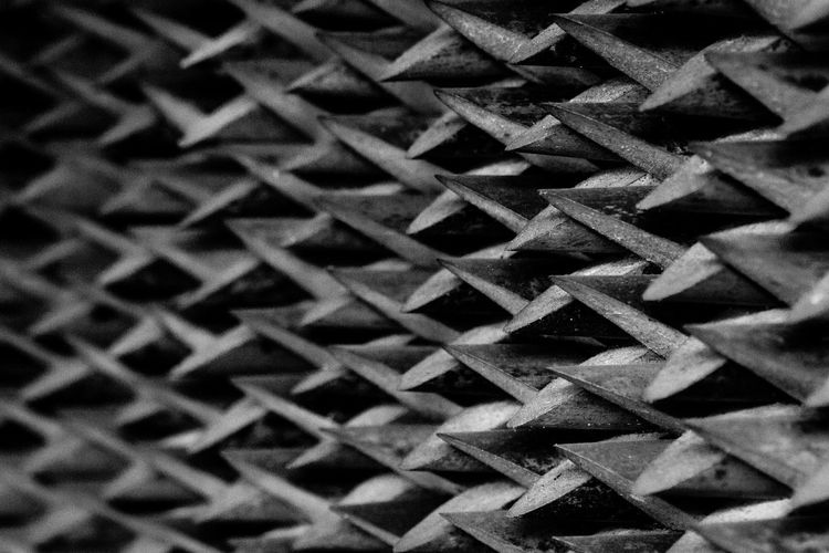 Full frame shot of metal pattern