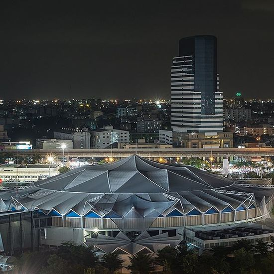 Indoor stadium of Bangkok . . . . Fujifilm_xseries Fujifilm Xm1 Fujifilmthailand Longexposure Mirrorless Stadium Outdoors Nightscape Nightscene Nightsky Cityscape Ig_bangkok Ig_thailandia Iglobal_photographers Igmasters Ig_masterpiece Cool_capture_ Capture_today Insta_thailand Bns_thailand Ig_worldclub Thailand_allshots Igersthailand Igersworldwide igerth siamthai_ig building instaplace instanight