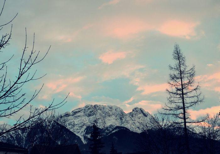 Giewont Tatras Mountains Zachodslonca
