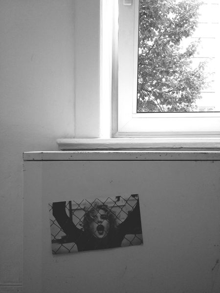 Trapped. · Hamburg Germany 040 Hh Sticker Apartment Below The Window Heating Woman Fence White Black And White Monochrome Simplicity Minimalism Experimental