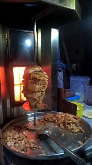 Chicken Meat Food Food And Drink Heat - Temperature Meat Plate Shaurma ♥♥ Spatula Street Food