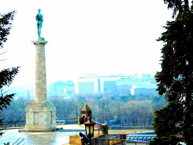 Statue City Travel Destinations Politics And Government Sculpture Water Tree Sky People Adult Nature Day Architecture Knez Mihajlova Belgrade Kalemegdan  Outdoors Resist