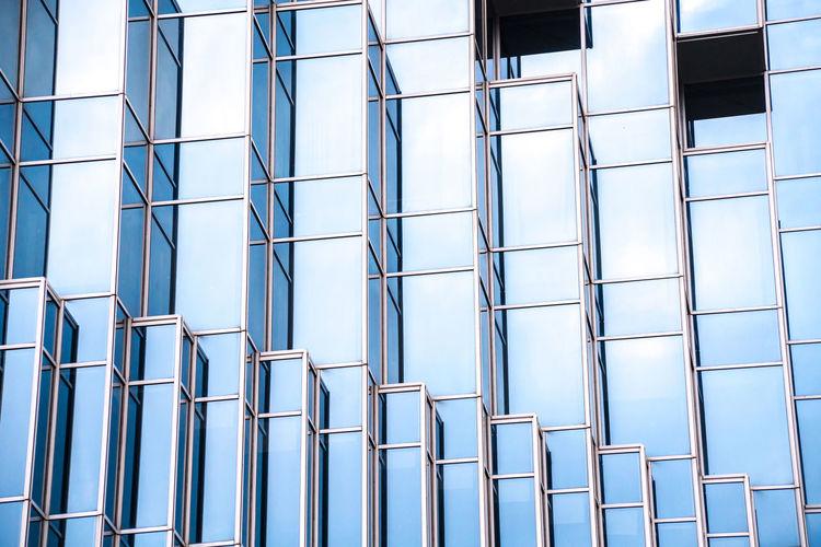 Full frame short of modern building