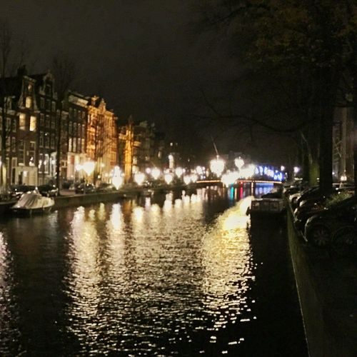 Amsterdam Amsterdamcity Architecture Beautiful Building Exterior Canal City City Citylife Gracht Grachten Holland Iamamsterdam Illuminated Netherlands Niederlande Night Nightshot Reflection Residential Building River Water Waterfront