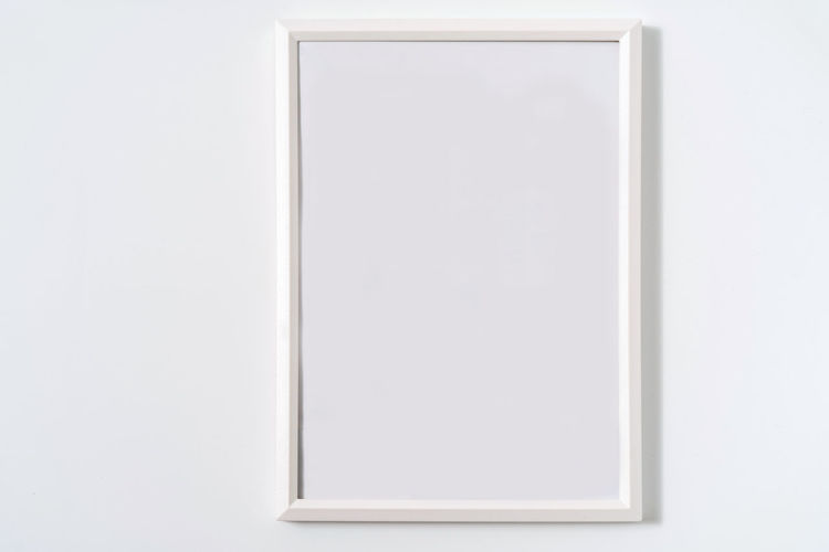 Close-up of empty white background