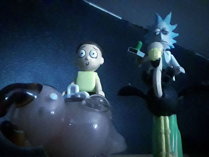 Toys LEGO Rick And Morty Collectables Adultswim Ohio, USA Ohio Human Representation Indoors  Doll No People Night Close-up