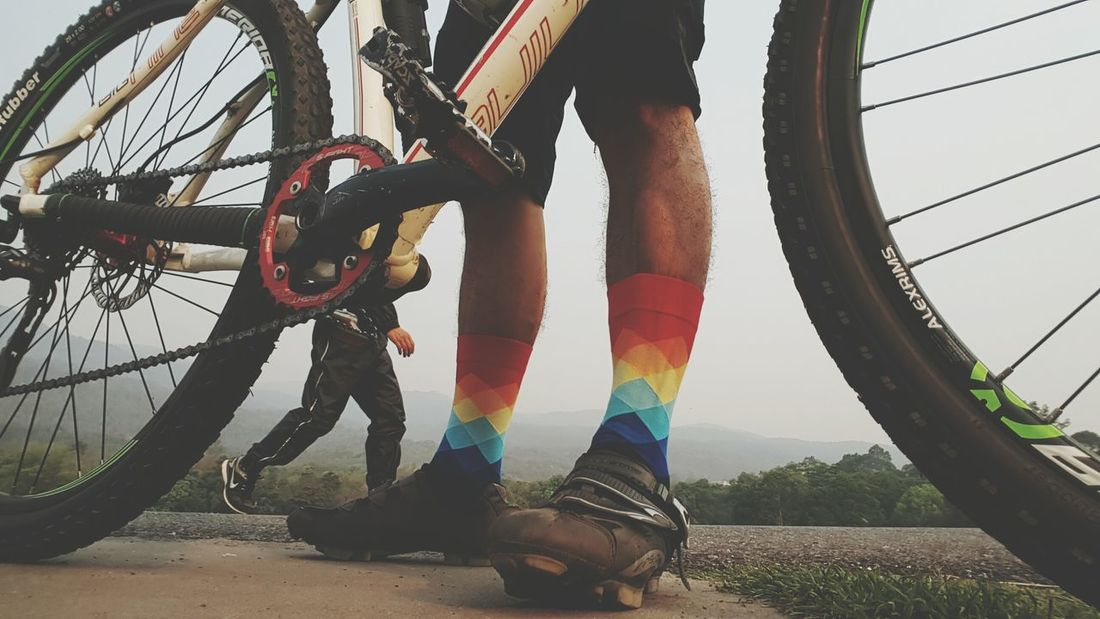 Morning Ride Morning Run One Person Low Section Outdoors Human Leg Adults Only Adult Tire One Woman Only Close-up Day People Human Body Part Cycling Travel Bicycle Sport Footwear Freshness Intervals Chiang Mai | Thailand Running Relaxing Morning