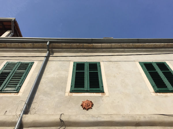 Beautiful Blue Sky Colours Doors Historical Building Istria Kroatia Kroatien Old Buildings Old Wall Style Seaside Streetphotography Sunny Day Walking Around The City  Windows