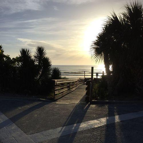 Sunrise at the beach yesterday. Nature Beach Sunrise
