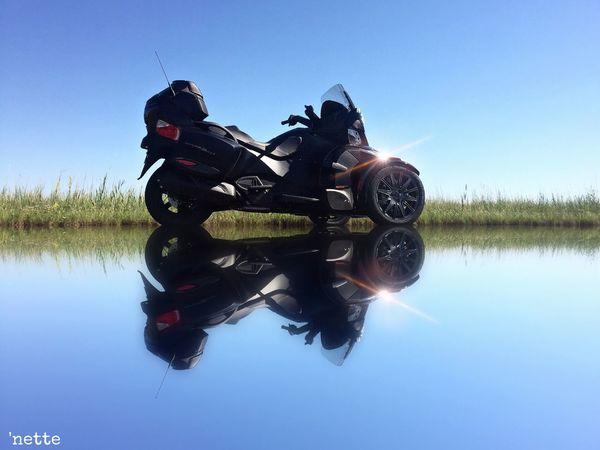 Can Am Spyder Mirrored Reflection Blackwater National Wildlife Refuge Trasportation Mode Of Transport Leisure Activity