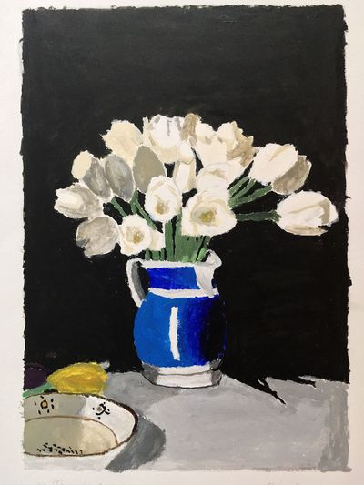"Inspired by the painting ""White Tulips"" from William Nicholson. Flower Vase No People Nature Close-up Flower Head White Tulips William Nicholson Still Life Naturaleza Naturaleza Muerta Painting"