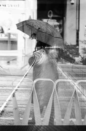 Adapted To The City Blackandwhite Filmisnotdead Double Exposure