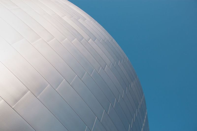 Steel & Sky Downtown Los Angeles. Lines, Shapes And Curves Pattern, Texture, Shape And Form Built_Structure Buildings DTLA Façade Pattern Bluesky Architecture Textures And Surfaces Minimalism Minimalobsession Minimal Welcome Weekly The Architect - 2016 EyeEm Awards