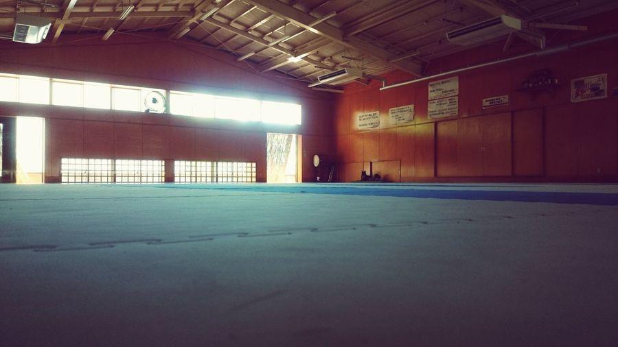 Karate dojyo Karate Dojyo Practice Schoollife Strong Enjoy Club The Club Activities End Sweat Sad Scenery