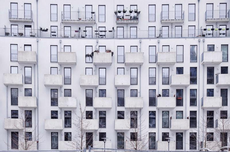 Full frame shot of residential building
