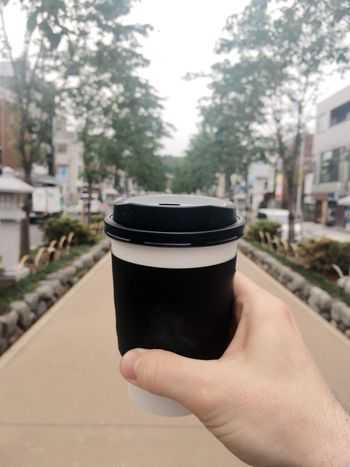 Coffee in Kamakura. Coffee Lifestyles Leisure Activity Human Hand Freshness Food And Drink Nature Outdoors Close-up Coffee Time