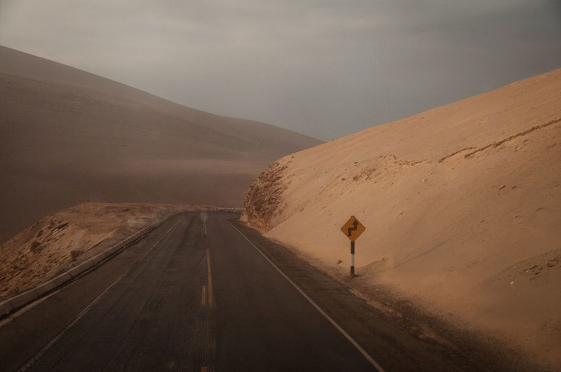Arequipa Day Desert Landscape Mountain Open Road Outdoors Peru Road Sand Sky South America