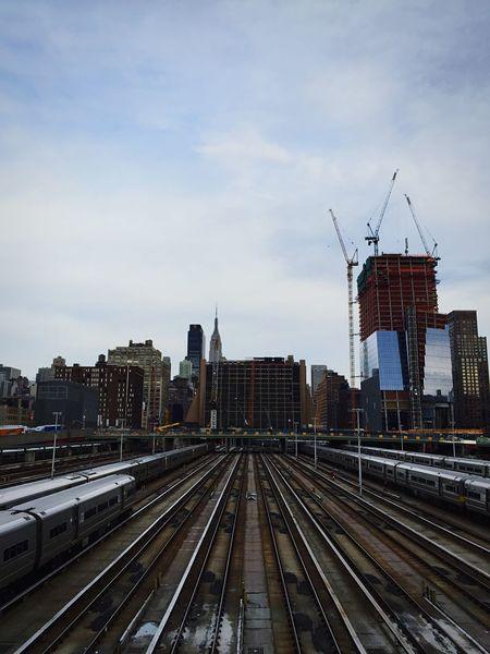 Open Edit Cityscape Railroad Tracks Vanishing Point New York City
