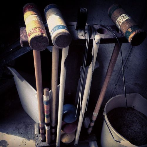 Roque mallets (for serious chastisement) Croquet Mallets Set Wicket 1970s game vintage garage trb_members1 theshining stephenking