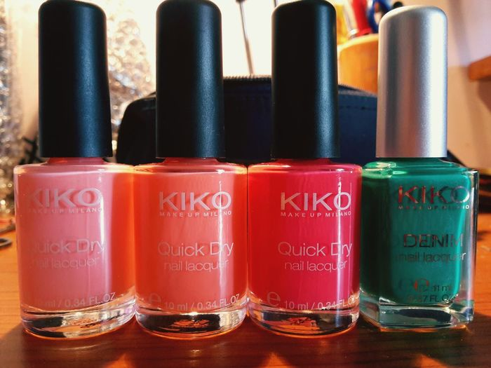 Naillacquer Smalto Kiko Make Up Italy❤️ Summerday Colours Paintyournails Paintyourself Eye4photography  Summertime