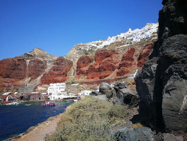 Santorini Redbeachsantorini EyeEm Selects Mountain Outdoors Nature Day Travel Destinations Sky No People Mountain Range Landscape Scenics Beauty In Nature Desert Clear Sky