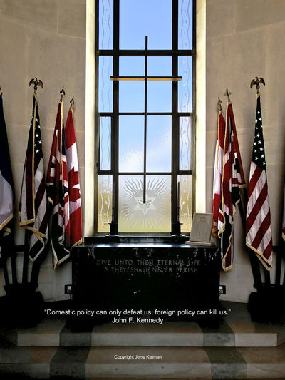 It's the 100th birthday of the late #JohnFKennedy as well as #MemorialDay, and this #quote of his plus a never-to-forget place in #France, the #NormandyBeachMemorialCemetary and the chapel dedicated to those who were missing in action on and after #DDay. If this #quotograph resonates with you feel free to #repost for others to enjoy. D Day D Day Landing John F John F Kennedy Memorial Day Missing In Action Normandy Beach Normandy Beaches