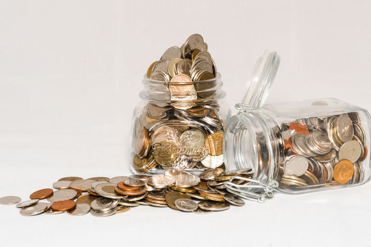 Close-up Coin Gold Gold Colored Heap Large Group Of Objects No People Stack Studio Shot Wealth White Background
