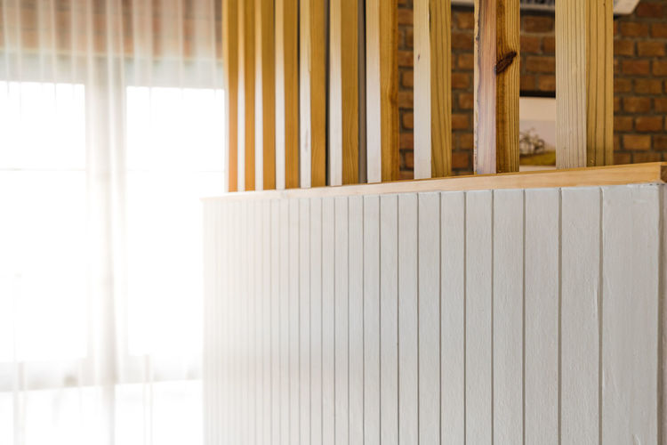 Close-up of wooden wall in house