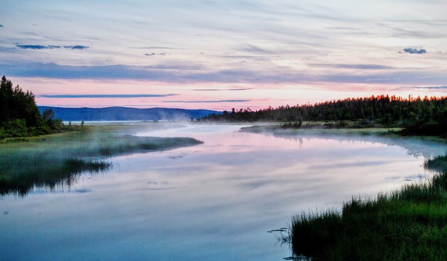 Misty river Suomi Finland Misty River Sunset Water Fog Pastel Power Landscapes With WhiteWall The Essence Of Summer The Great Outdoors - 2017 EyeEm Awards