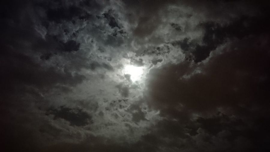 Hiding moon. Tenerife SPAIN España Canary Islands Islas Canarias Moon Clouds Clouds And Sky Sky Night Sky Night Moon And Clouds Cloudy Beauty Beauty In Nature