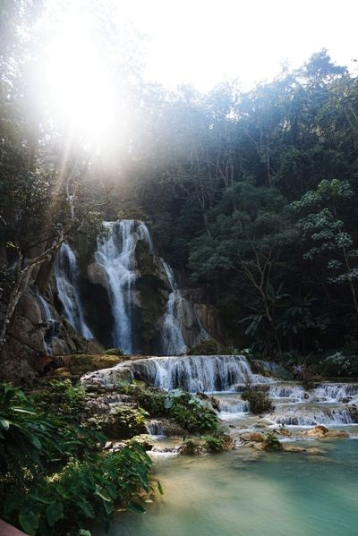 Don't go chasing waterfalls Waterfall Scenics Landscape River Beauty In Nature Kuang Si Waterfall Luang Phabang Laos South East Asia Travel Destinations Wanderlust Travel Photography