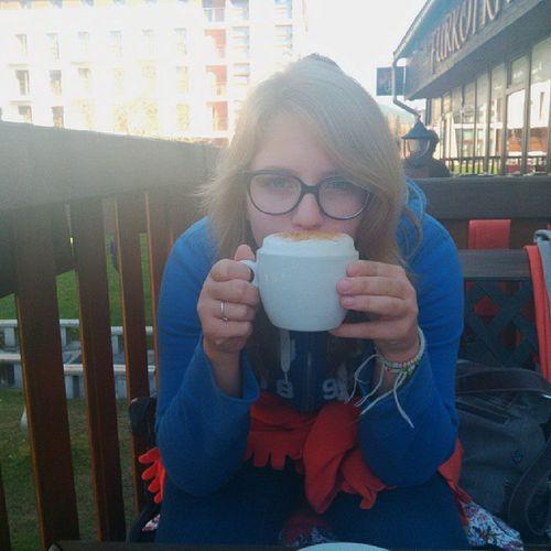 :3 Capucinoo Yummy Tatry  štrba štrbské pleso hory cold tengo frio nice vista bonita