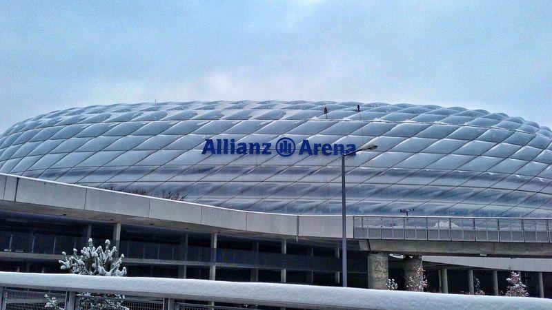Allianzarena Allianz Stadium Munich Bayern Germany Snow