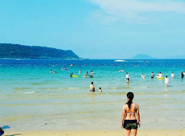 Beach Sea Outdoors Sky Rear View Japan Japon 日本 People Day Sand Kyusyu 九州 日常 Dia Memories Relaxing Japonesa Tattoo 心と身体の解放の夏。